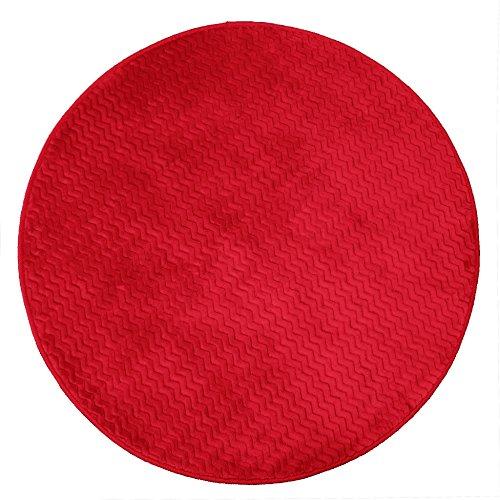 Le Jardin Des Cigales alfombra redondo, poliéster, rojo, 90x 90cm