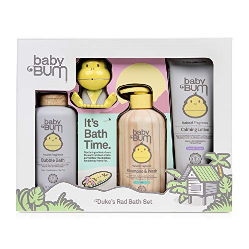 Baby Bum Duke's Essentials Gift Set - Shampoo and Wash - Everyday Lotion - Hand Sanitizer - Blanket -