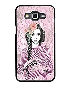 Fuson Peaceful Girl Back Case Cover for SAMSUNG GALAXY GRAND MAX - D4036