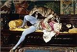 Cuadro Sobre Lienzo 180 x 120 cm: A Young Page, Playing with a Greyhound de Giovanni Boldini/Bridgeman Images - Cuadro Terminado, Cuadro Sobre Bastidor, lámina terminada Sobre Lienzo auténtico, i.