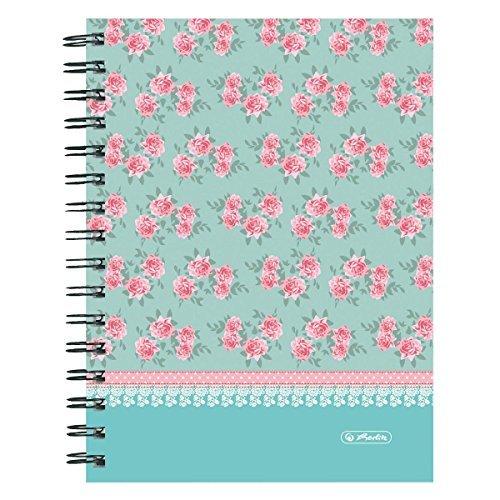 Roses Design Kariert ohne Rand Tabelle Spirale Notizbuch, ()
