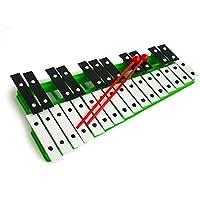 Cromático Glockenspiel Xilófono Verde 27 noté instrumento de la música