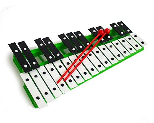 ProKussion green27V 27Clé Chromatique Glockenspiel Xylophone avec baguettes-vert