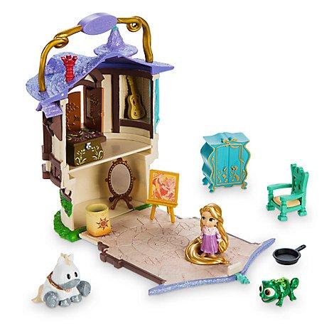 Rapunzel Mikro Playset, Disney Animatoren Sammlung Littles (Rapunzel Pascal Spielzeug)