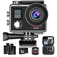 Action Camera,Campark 4K Sport Camera Wifi Underwater Camera Helmet Camera 170° Wide Angle with 32GB Class 10 Memory Card,2.4G Remote Control,Time Lapse and Slow Motion