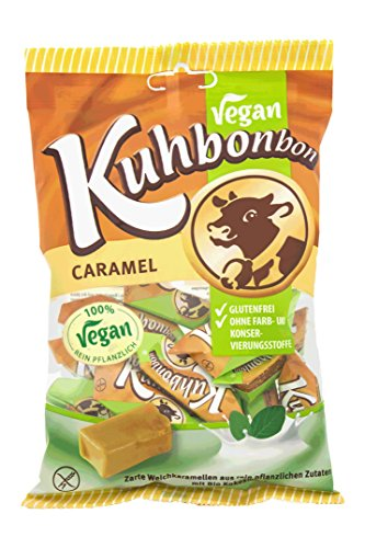 Vegan Kuhbonbon Caramel - Weichkaramellen mit Bio Kokosmilch und Kakaobutter - 165g