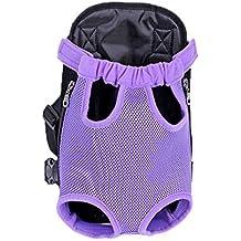Kaisir Transportín mochila, ajustable para mascotas gato frontal perro bolsa mochila viaje, piernas hacia