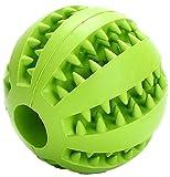 PETBABY Hund Gummiball Kauen Spielzeug, Bissfest Treat Dispensing Zahnreinigung Welpen Spielzeug für Small Medium Large hund (Grün)