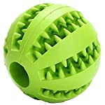 MEKEET Dog Chew Rubber Ball, Nontoxic Bite Resistant Dog Chew Ball Food Treat Feeder Tooth Cleaning Ball (DeepBlue)