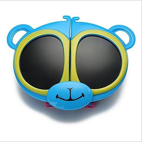 Sport-Art Polarisierte Sonnenbrille-Fahrer-Gläser mit unzerbrechlichem Rahmen Shatterproof Anti-Kratzer für Kind-Kinder (Junge u. Mädchen) Radfahren, das Fischen fährt, das Golf wandert ( Color : Blue )