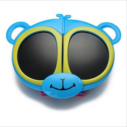 Sport-Art Polarisierte Sonnenbrille-Fahrer-Gläser mit unzerbrechlichem Rahmen Shatterproof Anti-Kratzer für Kind-Kinder (Junge u. Mädchen) Radfahren, das Fischen fährt, das Golf wandert ( Color : Blue ) (Geeks Und Nerds Fancy Dress)