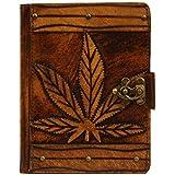 A Little Present Marihuana Dekoration Vintage Leder Hardcover Tastatur Schutzhülle mit Braun Schloss für Kindle Fire HD/Samsung Galaxy Tab 2 - gut und günstig
