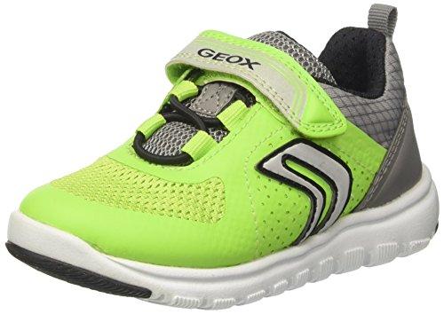Geox J Xunday B, Sneakers Basses Garçon Gris (Lime/greyc2292)