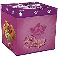 Preisvergleich für Paw Patrol Girl Spielzeugkiste + Hocker Aufbewahrungsbox mit Deckel Stuhl Kiste Mickey Mouse