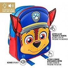 Mochila 3D Patrulla Canina Paw Patrol luz sonido 32cm