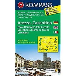 Arezzo - Casentino - Parco Nazionale delle Foreste Casentinesi - Monte Falterona - Campigna: Wanderkarte mit Aktiv Guide und Radrouten. GPS-genau. 1:50000 (KOMPASS-Wanderkarten, Band 2459)