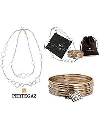 """Conjunto 2 piezas, de collar y pulsera """"Cercles"""" PERTEGAZ"""