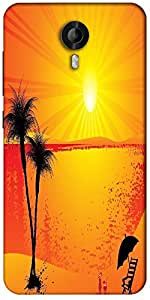 Snoogg Summer Background Designer Protective Back Case Cover For Micromax Canvas Nitro 3 E455