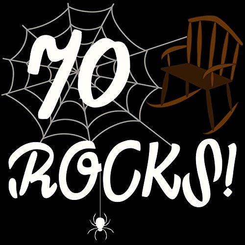 70 rocks! - Herren T-Shirt von Fashionalarm | Geschenk zum 70. Geburtstag Jubiläum Schwarz