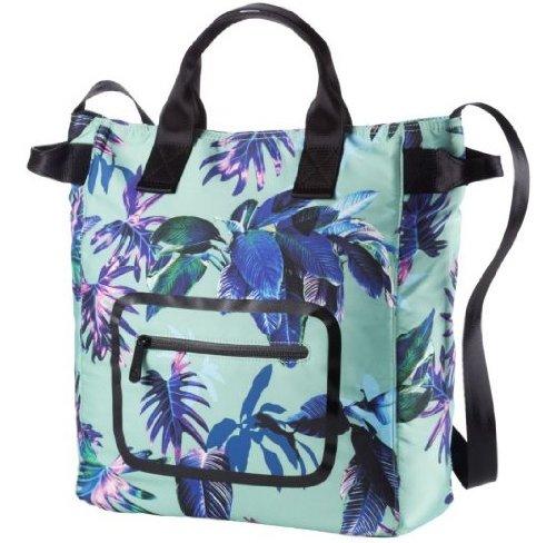 PUMA Damen Schultertasche Dazzle Shopper Electric Green-Black-Tropical Graphic