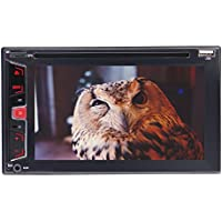 """6.2"""" Double Din Capacitive Touch Screen Car Audio Stereo Receiver MP5 Player FM Radio 1080P Video Bluetooth with Wireless Remote Support DVD/CD/USB/TF/Backup Camera Input/Steering wheel control"""