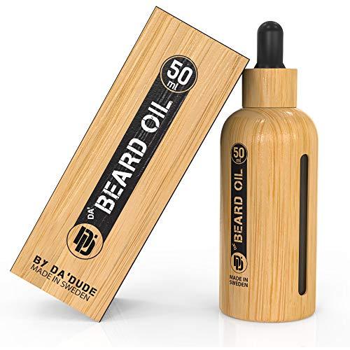 DA'DUDE DA' BEARD OIL - Aceite de barba para hombre - El regalo perfecto que suaviza y realza el atractivo de tu vello facial. Botella de 50 ml y certificado vegano