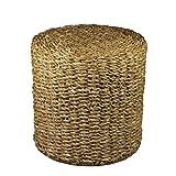 Hocker/Sitzhocker / Beistelltisch Rund   Seegras   Natur   Fair Trade (Groß)