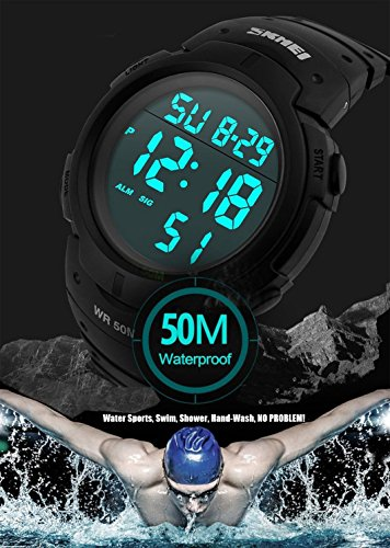 Mens Military Digital Sport Watch Waterproof Outdoor Electronic Army LED  Back Light Display Alarm St