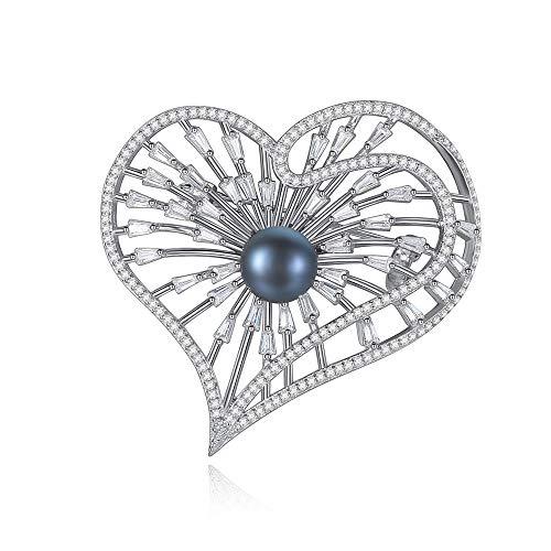 Peggy Gu schmuck Erwachsene Frauen Dame Girls 925 Silber Natürliche Perle Brosche Pins Covered Schals Schal Clip kostüm - Accessoire