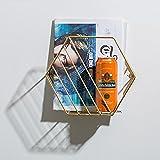 lililili Wand-zeitschriftenhalter, Metall prospekthalter Bücherregal Bilderbücher Zeitungshalter Display-Rack Dekorativer wandbehang Wohnzimmer-Gold C 38x21x33cm(15x8x13inch)