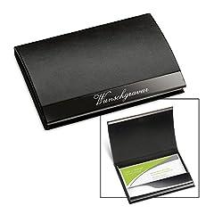 Denim dunkelgrau Kreditkartenetui//Visitenkartenetui Fintie Premium Kunstleder handgefertigte Kartenetui Organisator Halter Taschen mit Magnetverschluss