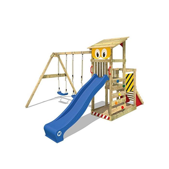 Relativ WICKEY Spielturm Smart Scoop Kletterturm Klettergerüst mit Rutsche FY64