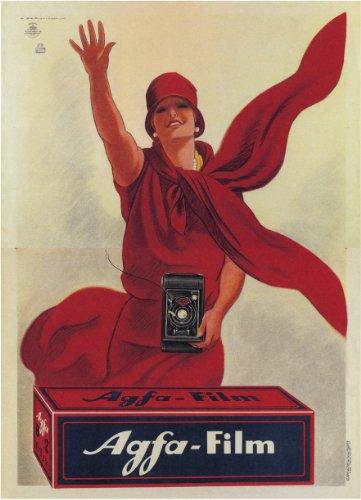Vintage Photography Agfa Film, Italien Kunstdruck von Marcello Dudovich 250gsm, Hochglanz, A3, vervielfältigtes Poster (Vintage Canon-film-kamera)