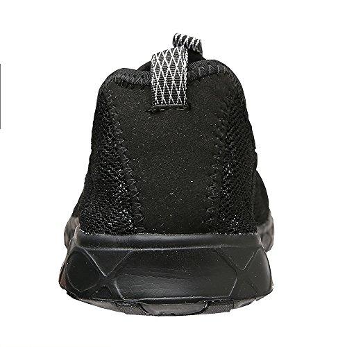 aleader Chaussures de maille antidérapant sur l'eau pour femme Black8521A