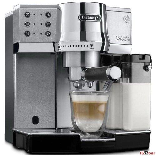 DeLonghi EC 850.M Espressomaschine/Siebträger / IFD Milchschaumsystem / 15 Bar/Metall, silber
