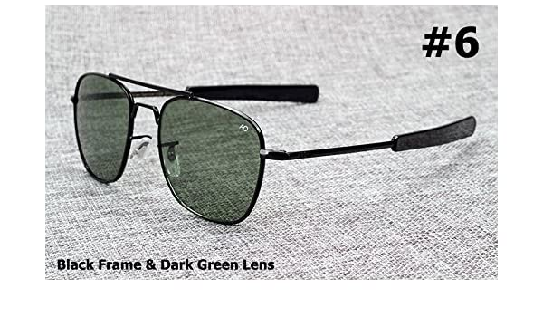e788881188 Aprigy Fashion Army MILITARY AO Pilot 54mm Sunglasses Brand American  Optical Glass Lens Sun Glasses Oculos De Sol Masculino  6   Amazon.co.uk   Sports   ...