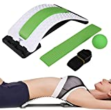 Back Stretcher w/Lumbar Support- ChiSoft® #1 Doctor Recommended- Improved Design, Multi-level Orthopedic Back Stretching Device, Unique Central Soft Form Support, Back Pain Relief, Magical Back Treatment, Premium Quality. Lumbar Massaging Support