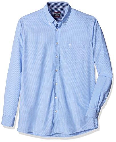 CASAMODA Herren Freizeithemd Blau (Blau 100)