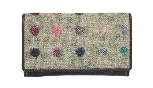 Pelle Mala Leather Collection ABERTWEED & Tweed Flap Negli borsa 3175_40 rosa confetto Brown Spot