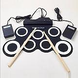 EFDS Kabellose Elektrische Trommel 7 Pad Digital Drum Kit,Blackandwhite
