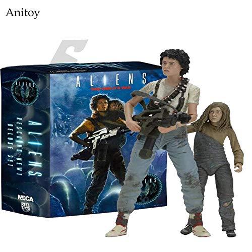 Yvonnezhang NECA 30 Jahre Aliens Rescuing Newt Deluxe Set Vogue Ripley und Newt 18cm KT3346 (Ripley Alien 3 Kostüm)