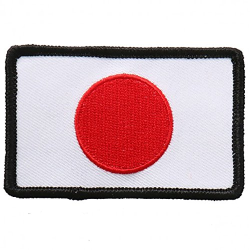 """Embroidered JAPANESE Flag PATCH, Iron-On / Sew-On - 3"""" x 2"""""""