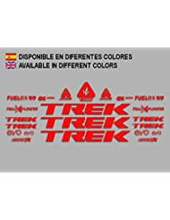 PEGATINAS STICKERS TREK FUEL EX 9.9 BIKES F144 STICKERS AUFKLEBER DECALS AUTOCOLLANTS ADESIVI MTB BTT (ROJO)