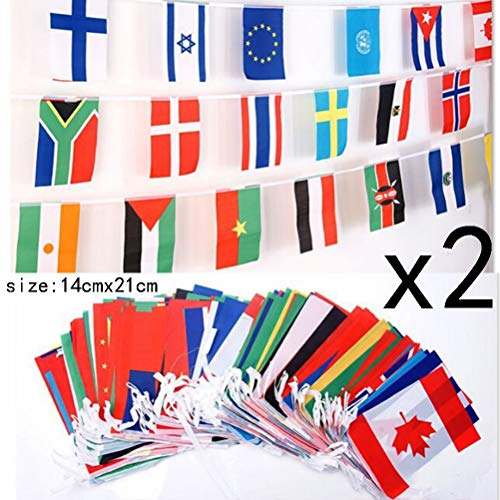 Flag Set - 14x21cm 32 Team Country World Bunting String Flag National Banner Football Soccer - Streamers Banners Streamers Confetti Flag World Alicia Nation Russia Game Country Flags Sale Braz