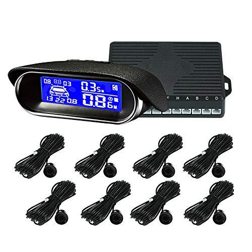 KKmoon 8 Sensoren Auto Radar System mit LCD Display Einparkhilfe Rückfahrradar Rückfahrwarner