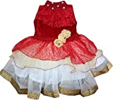 'All About Pink' Party wear frocks dresses for girls (7-8 Years, Red)