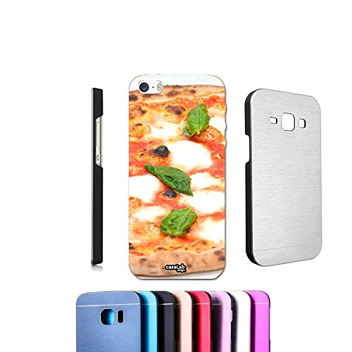 COVER ALLUMINIO PIZZA NAPOLETANA PER IPHONE 5 5S METALLO