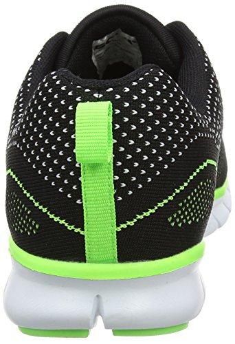 Gola Tempe, Chaussures de Fitness Homme Noir (Black/lime/white)