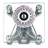 Sonvadia Mechanische quadratische Badezimmerwaage aus Glas