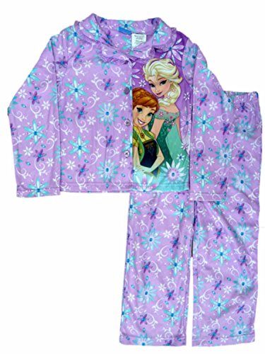Disney Gefrorene M?dchen 2 PC ELSA Anna Purple Pyjamas Top Bottoms Schlaf Set 10-12